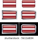 latvian flag buttons | Shutterstock .eps vector #56116834