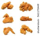 golden brown fried chicken... | Shutterstock . vector #561170449