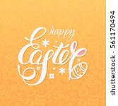 happy easter vector... | Shutterstock .eps vector #561170494