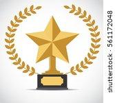gold star award   vector... | Shutterstock .eps vector #561172048