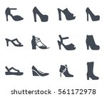 women shoes silhouette icon | Shutterstock .eps vector #561172978