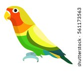 lovebirds parrot with a yellow... | Shutterstock .eps vector #561173563