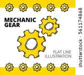 mechanic gears. colored flat... | Shutterstock .eps vector #561174868