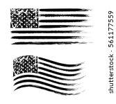usa american grunge flag set ... | Shutterstock .eps vector #561177559
