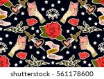 seamless valentines day pattern.... | Shutterstock .eps vector #561178600