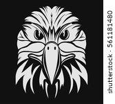 eagle head logo template  hawk... | Shutterstock .eps vector #561181480