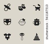 set of 9 editable infant icons. ...