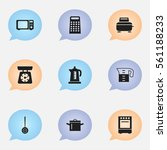 set of 9 cooking icons....