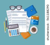 concept of tax payment and... | Shutterstock .eps vector #561188290