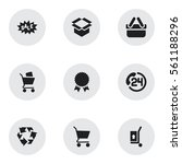 set of 9 business icons....