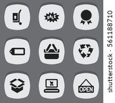 set of 9 icons. includes...