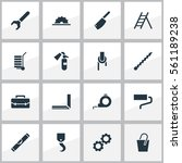 set of 16 instrument icons....