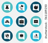 set of 9 knowledge icons....
