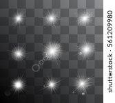 set of shining stars  the sun... | Shutterstock .eps vector #561209980