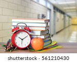 very blurry hall of school and... | Shutterstock . vector #561210430