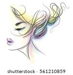 vector  stylish  original hand... | Shutterstock .eps vector #561210859