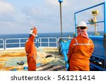offshore oil and gas industry ... | Shutterstock . vector #561211414