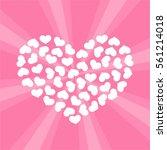 white hearts vector heart shape....   Shutterstock .eps vector #561214018