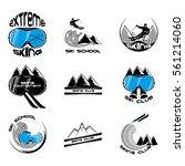 set ski logo design template... | Shutterstock .eps vector #561214060
