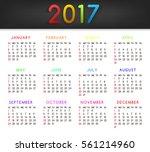 calendar 2017 week starts on...   Shutterstock . vector #561214960