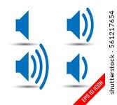 speaker icon. volume of sound...
