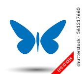 butterfly icon. simple flat...