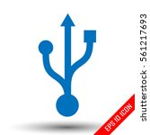 usb icon. usb sign. simple flat ... | Shutterstock .eps vector #561217693