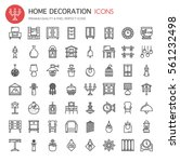 home decoration   thin line and ... | Shutterstock .eps vector #561232498
