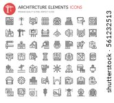 architecture elements   thin... | Shutterstock .eps vector #561232513