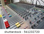 blur   mixing console  of a big ... | Shutterstock . vector #561232720