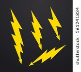 lightning bolt icons set ... | Shutterstock .eps vector #561241834