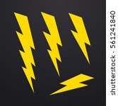 lightning bolt icons set ... | Shutterstock .eps vector #561241840