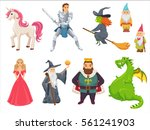 fairy tale. unicorn  princess ... | Shutterstock .eps vector #561241903