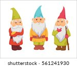 gnomes. funny  thoughtful and... | Shutterstock .eps vector #561241930