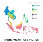map of southeast asia with name | Shutterstock .eps vector #561247258