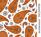 traditional eastern paisley... | Shutterstock .eps vector #561249958