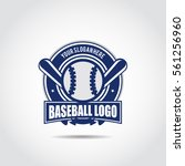 baseball logo template. vector... | Shutterstock .eps vector #561256960