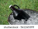 Beer Growler in Ice Bucket