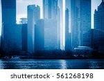 landmarks of shanghai with... | Shutterstock . vector #561268198