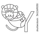 illustrator of y yellow baboon | Shutterstock .eps vector #561269050
