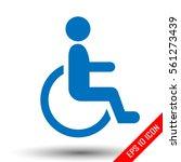 handicap person in wheelchair....   Shutterstock .eps vector #561273439