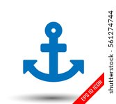 anchor icon. simple flat logo...