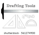 drafting tools for architecture ... | Shutterstock .eps vector #561274900