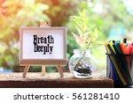 breath deeply   business... | Shutterstock . vector #561281410