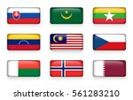 set of world flags rectangle... | Shutterstock .eps vector #561283210