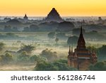 scenic view of ancient bagan... | Shutterstock . vector #561286744