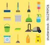 cleaning icon object design... | Shutterstock .eps vector #561290926