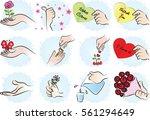 hand set | Shutterstock .eps vector #561294649