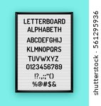 white letterboard with black... | Shutterstock .eps vector #561295936