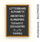 black letterboard with white... | Shutterstock .eps vector #561296020